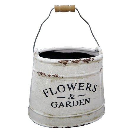 Cachepô Baldinho Flowers & Garden BB-27