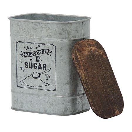 Lata de Metal Prata Sugar CA-60