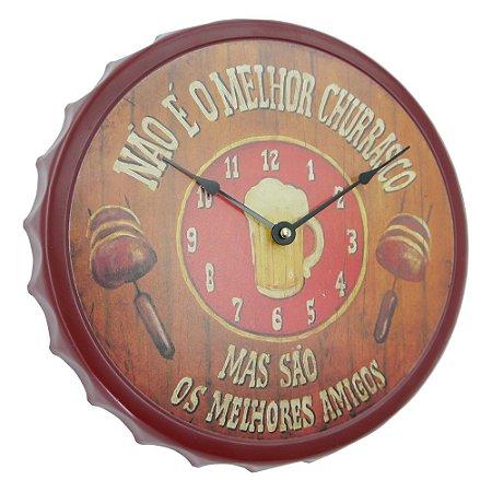 """Relógio Tampa """"Não é o melhor churrasco..."""" CL-45"""