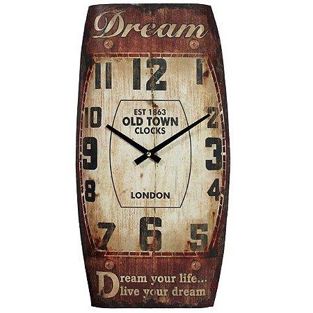 Relógio de Parede Vertical Dream CL-80
