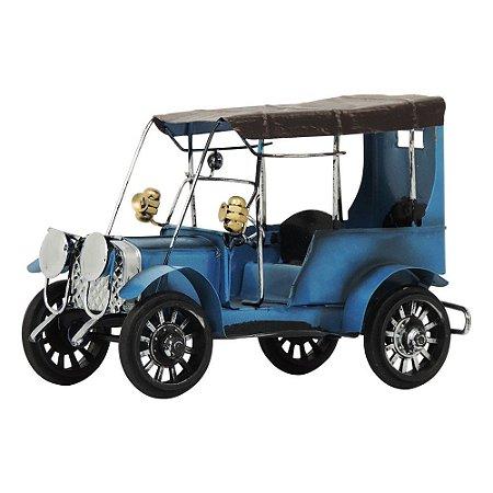 Carro Antigo Azul em Metal CM-64