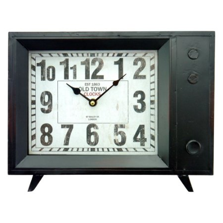 Relógio Old TV em Metal CW-51