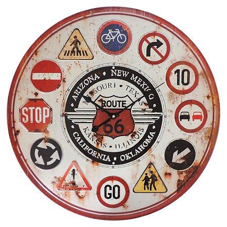 Relógio Rústico Route 66 CW-79