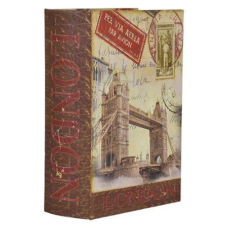 Porta Objetos Livro London DX-08 A