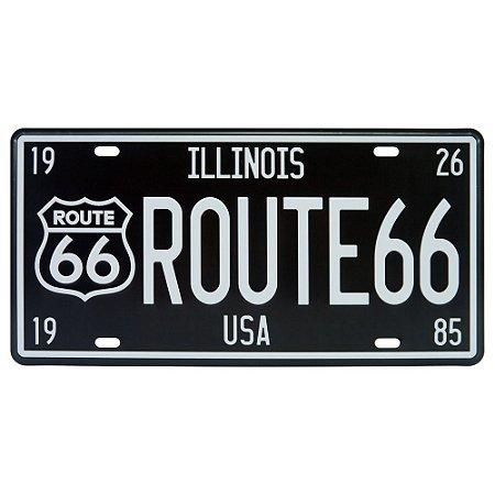 Placa De Metal Route Illinois DX-49