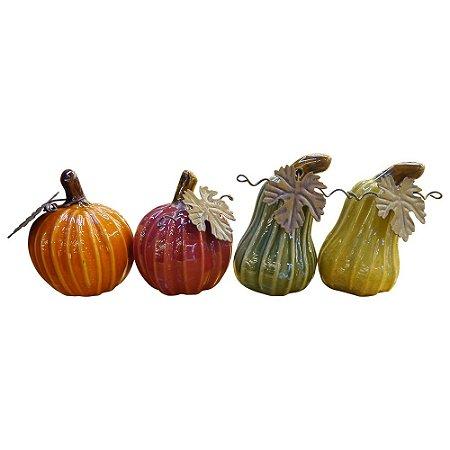 Enfeite Aboboras em Cerâmica com 4 Peças GC-13