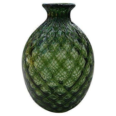 Vaso Redondo Verde de Vidro GC-78