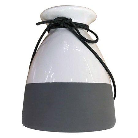 Vaso Laço Branco e Cinza HC-15
