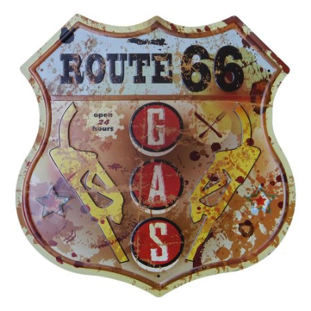 Placa Route 66 GAS KZ-41