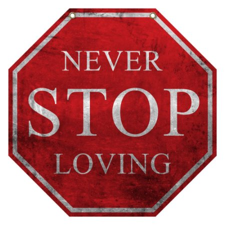 "Placa Decorativa ""Never Stop Loving"" LA-63"