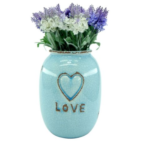 Vaso Decorativo Love Azul Grande LJ-60