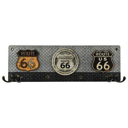 Cabideiro Rústico Route 66 MH-09