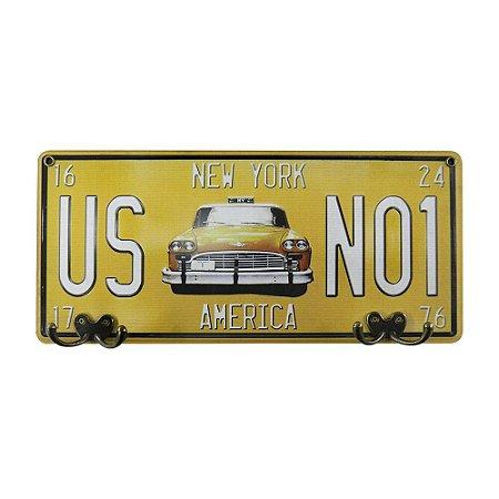 Cabideiro Placa Taxi MH-36
