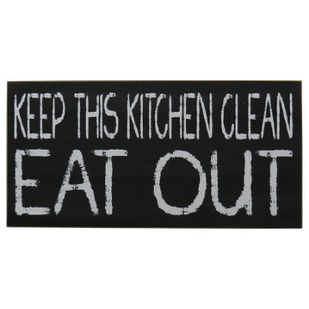 "Quadro Negro ""Keep This Kitchen Clean"" MH-55"