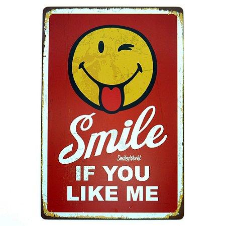 "Placa ""Smile If You Like Me"" MT-85"
