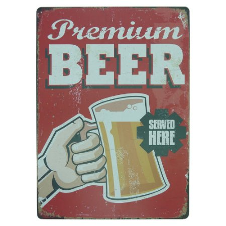 Placa Premium Beer MT-96