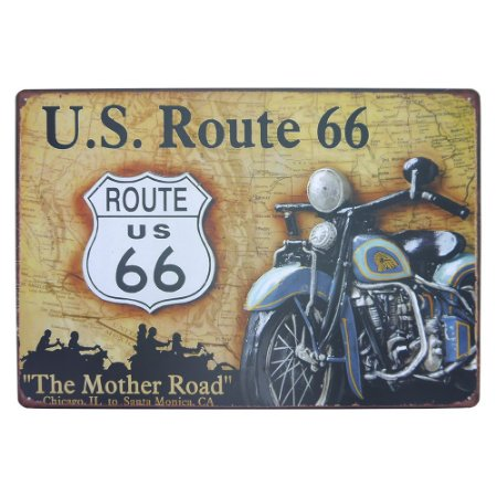 Placa U.S. Route 66 Grande MT-99