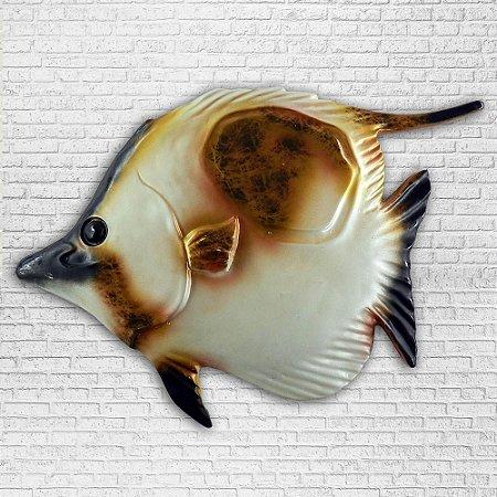 Peixe em Fibra Branco OU-22