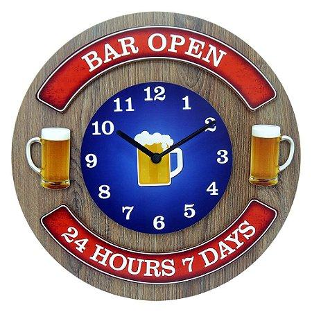 """Relógio """"Bar Open"""" RE-52"""