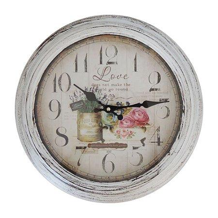 Relógio Jardim Love em Metal RG-61