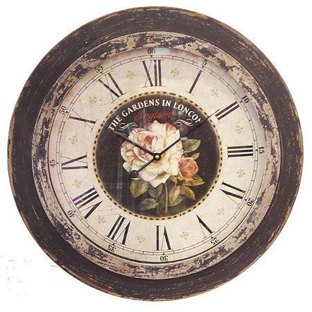 Relógio de Parede Rosas RL-17