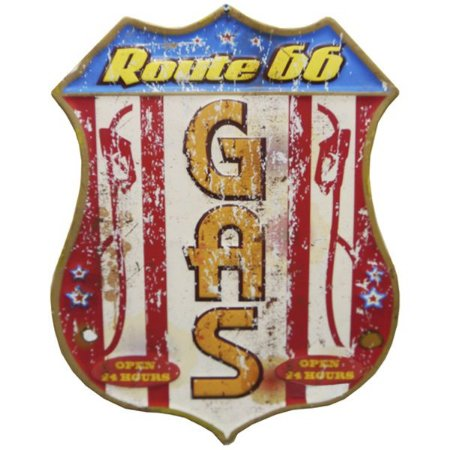 Placa de Metal Route 66 Gas RT-06