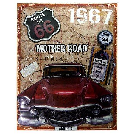 Quadro Carro Vermelho Antique RT-45