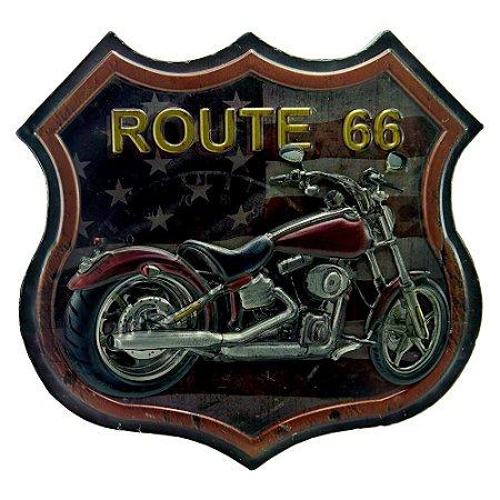Quadro Antique Moto Vermelha RT-52