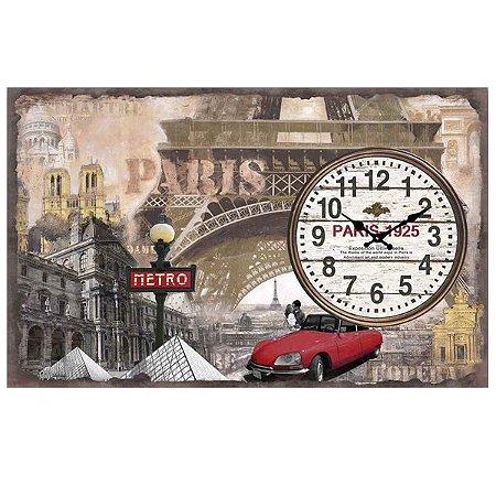 Relógio de Parede Paris de Vidro RV-17