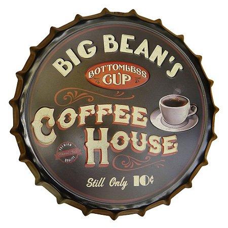 Tampa de Metal Decorativa Coffee House SV-25