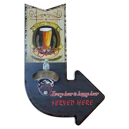 Abridor de Garrafa de Madeira Seta Beer SV-28 A