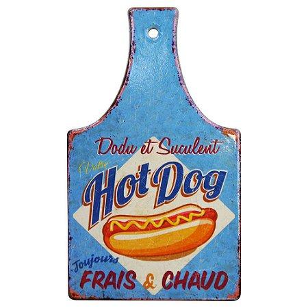 Tag de Cerâmica Hot Dog Azul SV-39 F
