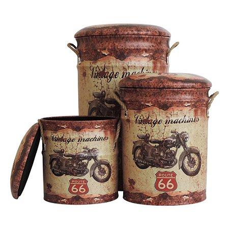 Banqueta Vintage Moto c/3 UA-90