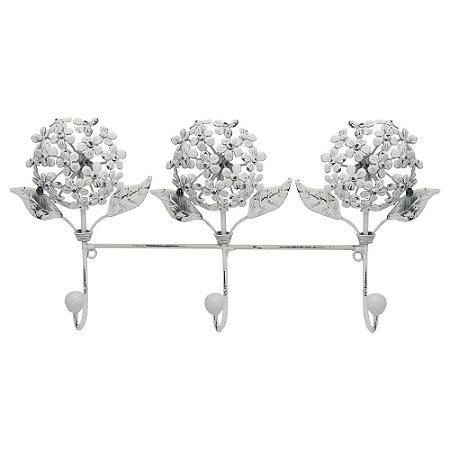 Enfeite de Metal Motivo 3 Flores US-12