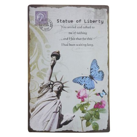 Placa Decorativa Statue of Liberty WW-84