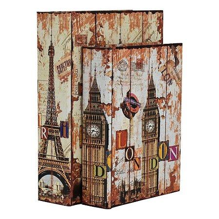 Jogo c/2 Porta Objetos Torre Eiffel YB-36