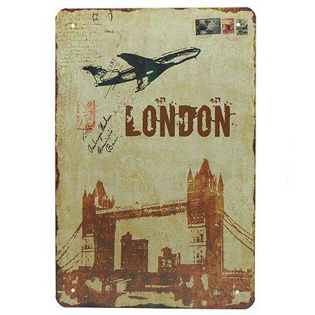 Placa de Metal London YW-53