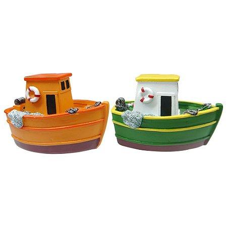 Jogo 2 Barcos Laranja/Verde ZZ-13