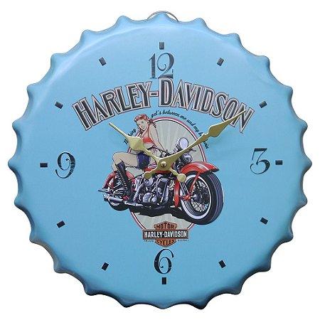 Relógio Azul Harley Davidson ZZ-81