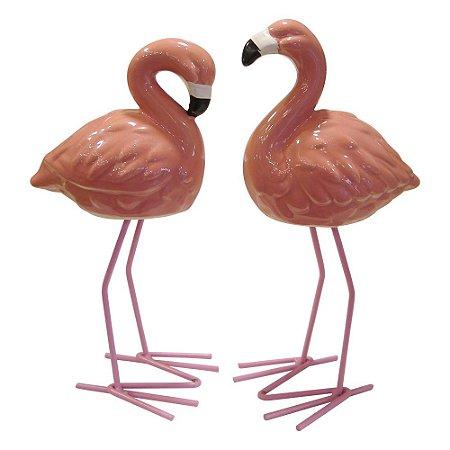 Jogo c/2 Enfeites Flamingos FG-14
