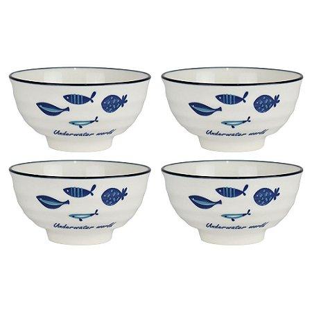Jogo C/4 Bowls Design Peixes YB-12 B