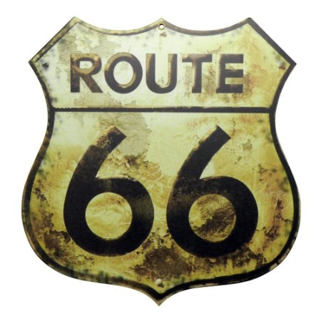 Placa Route 66 Grande LA-55