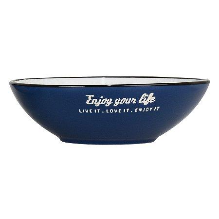 Bowl Enjoy Your Life Azul YG-39 A