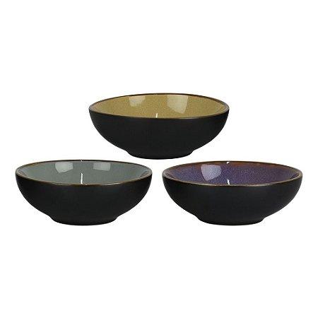 Jogo c/3 Bowls Preto YG-40