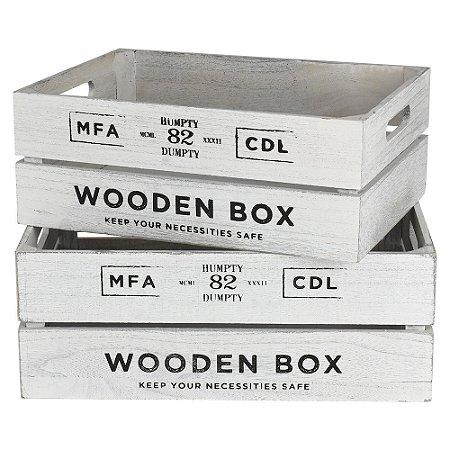 Jogo c/2 Caixas Wooden Box Grande YH-32 A