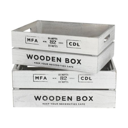 Jogo c/2 Caixas Wooden Box Médio YH-32 B