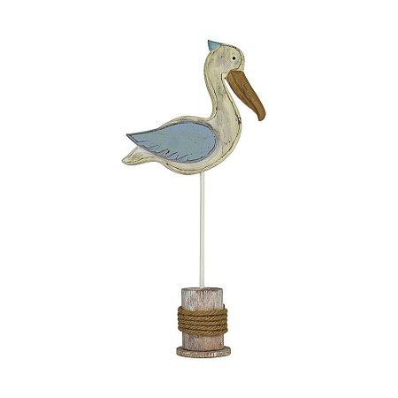 Enfeite Pelicano Azul Médio YH-36 B