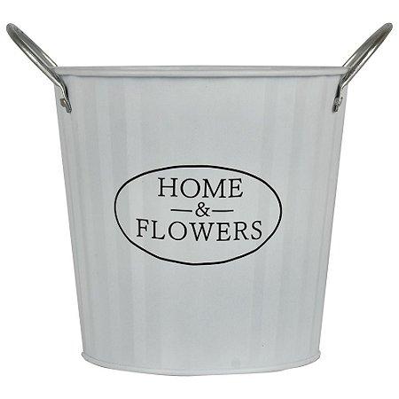 Vaso Branco Home & Flowers YH-67B