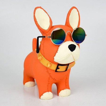 Enfeite Cachorrinho com Óculos em Resina YL-83