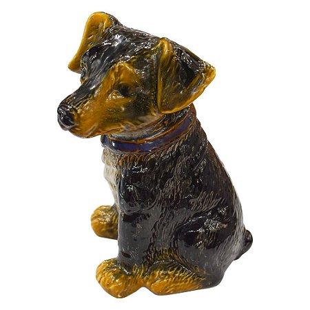 Enfeite Cachorro Preto em Cerâmica YJ-19 B
